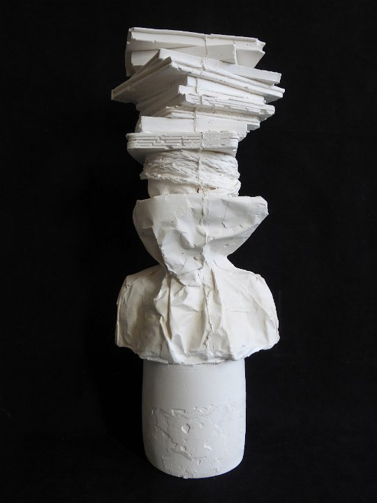 Librarian plaster bust 04