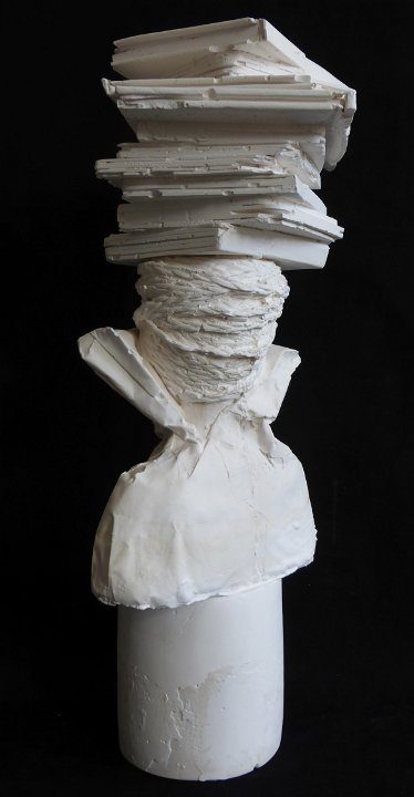 Librarian plaster bust 05