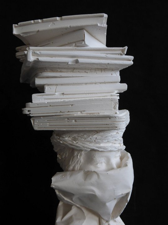 Librarian plaster bust 12