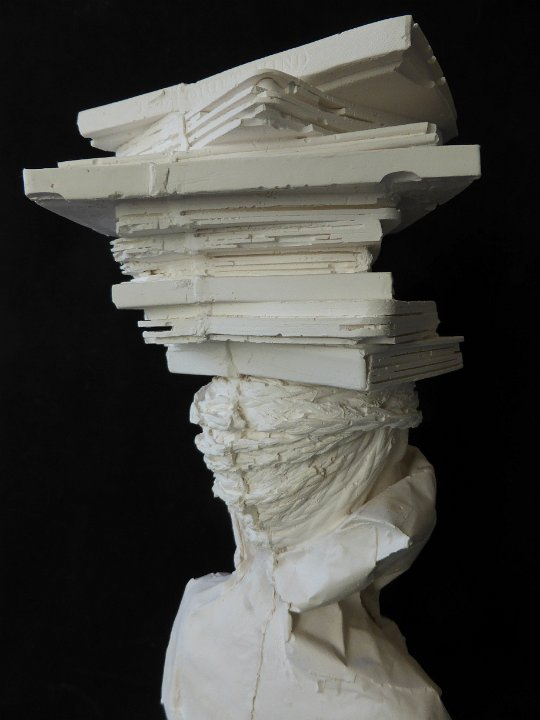 Librarian plaster bust 14